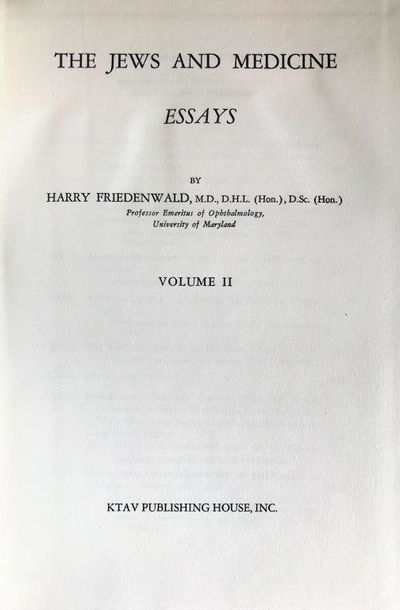 The Jews And Medicine Essays With The Jews And Medicine Jewish  The Jews And Medicine Essays With The Jews And Medicine Jewish  Luminaries In Medical History And A Catalogue Of Works Bearing On The  Subject Of The  Writing Services $10 also Example Of Thesis Statement In An Essay  How To Start A Synthesis Essay