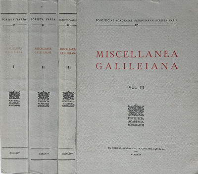 Image for Miscellanea Galileiana. [3 volumes].