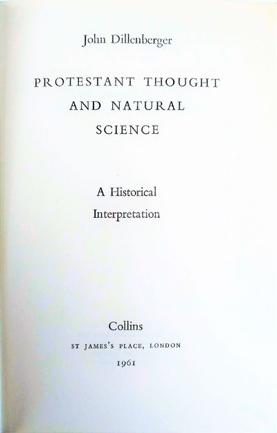 Image for Protestant Thought and Natural Science.