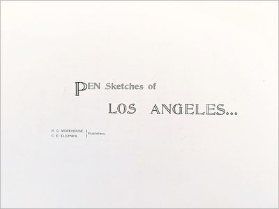 Image for Pen Sketches of Los Angeles, California.