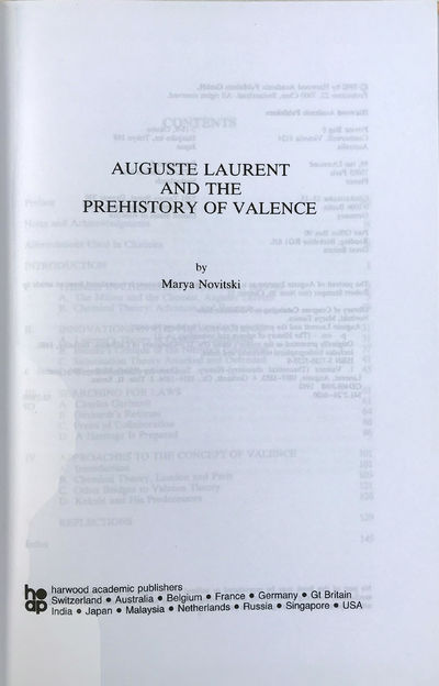 Image for Auguste Laurent and the Prehistory of Valence.