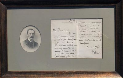 Image for AUTOGRAPH LETTER SIGNED from Osler to William Fingland. 12/28/1911.