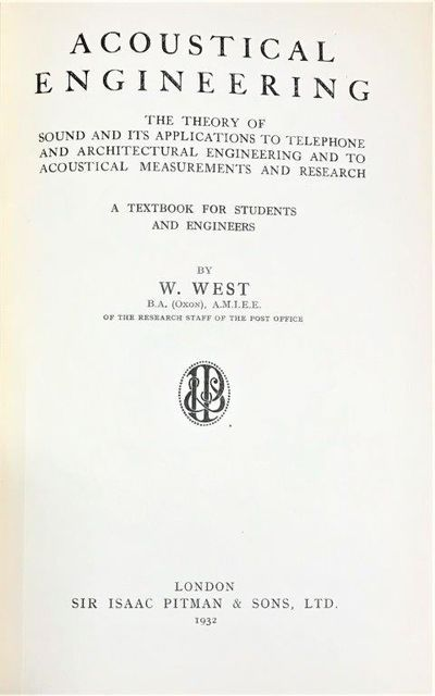 Image for Acoustical Engineering; The theory of sound and its applications to telephone and architectural engineering and to acoustical measurements and research. A textbook for students and engineers.