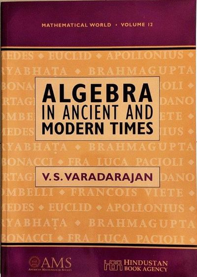 Image for Algebra in Ancient and Modern Times.