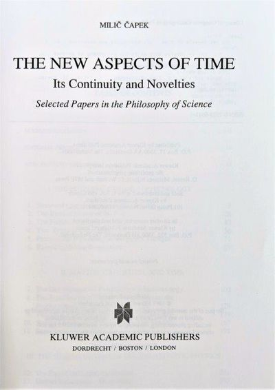 Image for The New Aspects of Time; Its Continuity and Novelties.