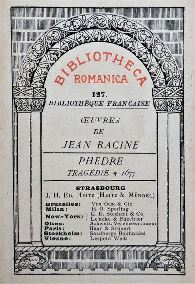 Image for Phedre, Tragedie 1677.