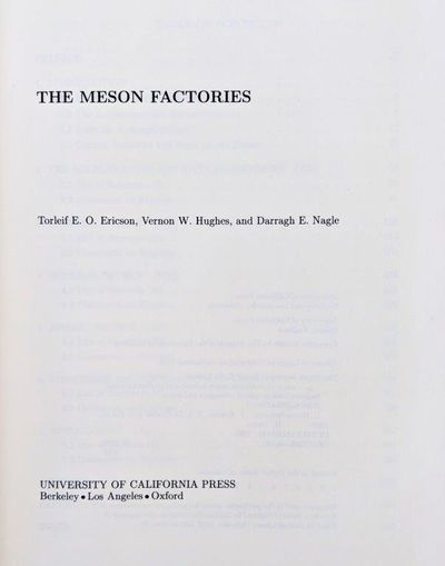Image for The Meson Factories.