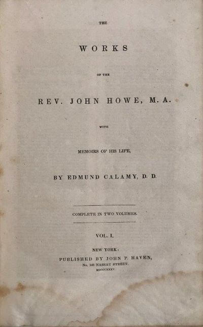 Image for The Works of the Rev. John Howe M.A. with Memoirs of His Life.