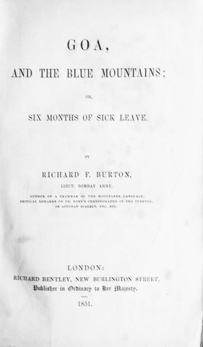 Image for Goa, and the Blue Mountains; or, Six Months of Sick Leave.