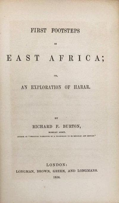 Image for First Footsteps in East Africa; or, an exploration of Harar.
