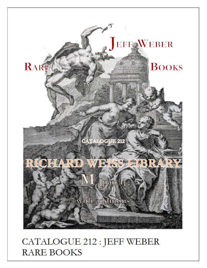 CATALOGUE 212: RICHARD WEISS LIBRARY: M - part 1 [Science, Astronomy, Natural History, Physics, Mars, Geology, Life Science]